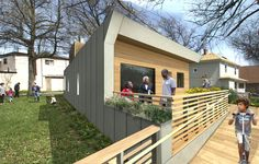 Empowerhouse, designed and built by students in NY and NJ, is a $250,000 passive solar home that is practical and was designed with community input. HFH is planning on building 6 of these homes in the DC area.