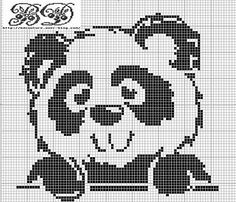 panda cross stitch pattern.