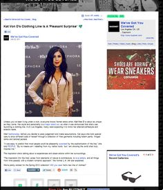 Kat Von D's Clothing Line Is A 'Pleasant Surprise article by We Got You Covered-Buzznet