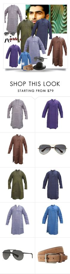 """MEN'S WEAR FASHION KURTA"" by globaltrendzs-flipkart ❤ liked on Polyvore featuring Ray-Ban, Dolce&Gabbana, Bergè, Études, men's fashion and menswear"