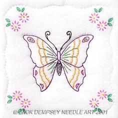 "Butterfly 9"" Quilt Blocks #embroidery #embroiderybyhand #JNDA #butterflies"