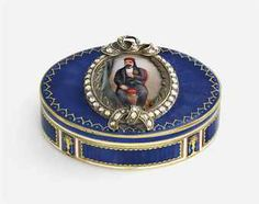 A SWISS JEWELLED AND ENAMELLED GOLD SNUFF-BOX FOR THE EASTERN MARKET MAKER'S MARK INDISTINCT, GENEVA, CIRCA 1830