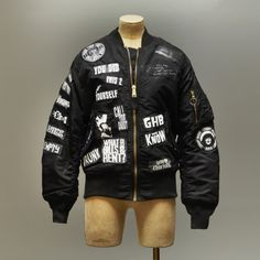 Chris Sutton Bomber Jacket Black and White