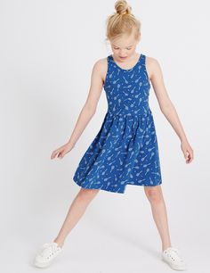 Cotton Rich All Over Print Dress (3-14 Years)