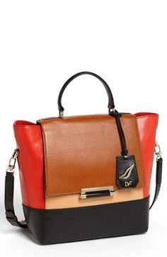 Diane von Furstenberg '440 - Small' Leather Satchel available at #Nordstrom