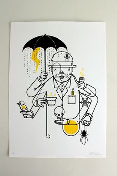 FreakShow Illustration Exhibition by Will Scobie, via Behance
