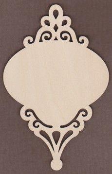 """WT2604-Laser cut Scroll Ornament Fancy-6 1/4"""" x 4"""" Unfinished Laser Cut wood shape."""