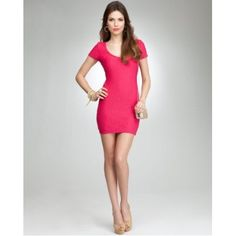 bebe Textured Bodycon Dress $98.00