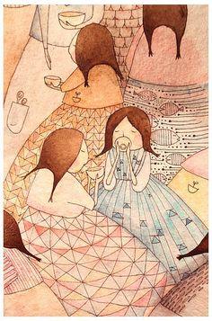 By Agustinita. I Love Coffee, Coffee Art, Coffee Shop, Happy Tea, Birthday Charts, Tea Design, Kawaii Illustration, Doodles Zentangles, Tea Art