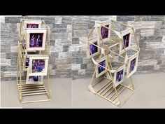 How to make swing wheel photo frame, Popsicle Stick Crafts, Craft Stick Crafts, Paper Crafts, Diy Crafts For Gifts, Creative Crafts, Photo Frame Crafts, Photo Frames Diy, Photo Frame Ideas, Photo Frame Decoration