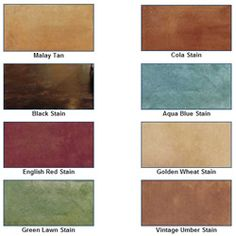 Stamped Concrete Color