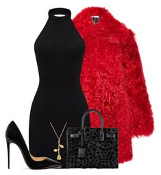 """""""bo"""" by eemotions ❤ liked on Polyvore featuring Christian Louboutin and Yves Saint Laurent"""