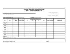 daily time sheet forms