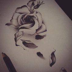 Αποτέλεσμα εικόνας για flower falling petal tattoo