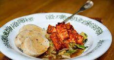 Tofu vrabec s kapustou a bramborovým knedlíkem 5 porcí Doba přípravy 50 minut Knedlíky 600 g syrových brambor 100 g...