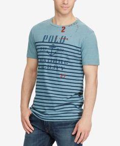 POLO RALPH LAUREN Polo Ralph Lauren Men'S Big &Amp; Tall Cotton Graphic T-Shirt. #poloralphlauren #cloth #shirts