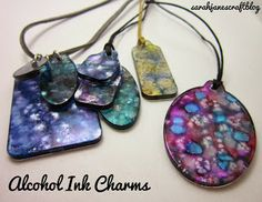Sarah Jane's Craft Blog: Alcohol Ink Decorated Charms
