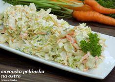 Domowa Cukierenka - Domowa Kuchnia: surówka z pekińskiej na ostro