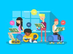 Language+school+group+student.+Education+college,+people+learning,+study+person,+vector+illustration.Vector+files,+fully+editable.