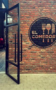 Cafe Signage, Restaurant Signage, Restaurant Exterior, Exterior Signage, Small Restaurant Design, Modern Restaurant, Pub Interior, Restaurant Interior Design, Mural Cafe
