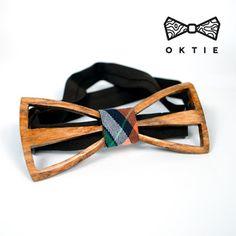 """OKTIE - wooden accesorries: OKTIE Wood Bow Tie Original Series """"Splice 2"""""""