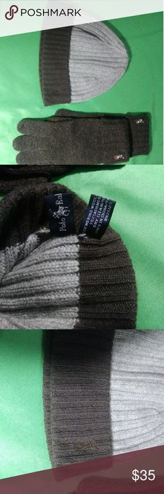 96ae890db14 Ralph Lauren Polo Knit Hat   Gloves Stay clean   cozy with this warm  authentic Ralph
