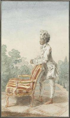 """""""Servant of Madame la Duchesse de Chartres"""" by Louis Caroggis Carmontelle (1770)"""