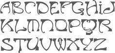 art nouveau lettering - Google Search