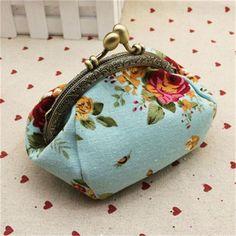 Mini purses Women Lady Retro Vintage Flower Small Wallet Hasp Purse Clutch Bag small coin purse monederos para monedas 2016