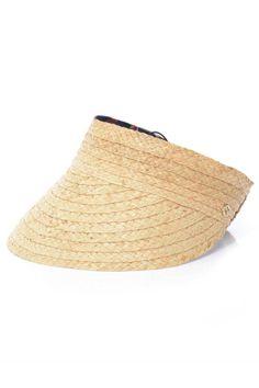 1ed2d84b1 Wide Straw Visor   sun hat in 2019   Straw visor, Visor hats, Hats