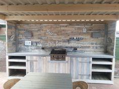 Pallet outdoor kitchen   1001 Pallets