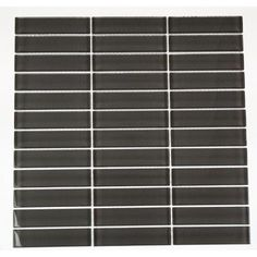 Splashback Tile Contempo Smoke Gray Polished 12 in. x 12 in. X 8 mm Glass Mosaic Floor and Wall Tile-CONTEMPO SMOKE GRAY POLISHED 1 X 4 at The Home Depot