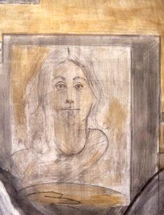 Ignacio Klindworth. #Pinturamural. Trabajo final de curso Procedimientos pictóricos. LLOTJA, Barcelona 1994. Detalle. #Fresco 3x6m.