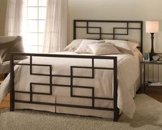 The classy home lets you have your choice in these astonishing selection of metal beds. Choose the right metal bed for your bedroom with us at the classy home. Welded Furniture, Iron Furniture, Modern Bedroom Furniture, Steel Furniture, Furniture Design, Bedroom Decor, Modern Bedrooms, Furniture Showroom, Accent Furniture