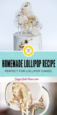 how to make homemade lollipop recipe that tastes amazing! Flavors and colors are easily customized and it's perfect for making those trendy lollipop cakes! Sugar Lollipop Recipe, Lollipop Cake, How To Make Lollipops, Homemade Lollipops, Candy Recipes, Dessert Recipes, Picnic Recipes, Baking Desserts, Health Desserts