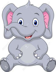 Cute elephant cartoon Baby Elephant Drawing, Cute Elephant Cartoon, Cute Baby Elephant, Cute Cartoon Animals, Baby Cartoon, Baby Elephants, Art Drawings For Kids, Cartoon Drawings, Easy Drawings
