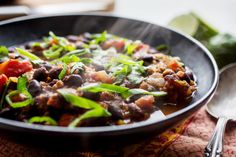 Black BeanChorizo Stew Recipe NYT Cooking, Slow cooker black bean chorizo soup Family Food on the Table, Rice Recipe with Chorizo. Chorizo Soup, Pan Dulce, Risotto, Roasted Poblano Peppers, Black Bean Soup, Black Beans, Bean Soup Recipes, Salsa, Dulce De Leche