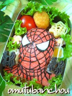 & Spiderman Bento   Recipe   Bento Spiderman and Food art Aboutintivar.Com
