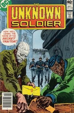 Unknown Soldier Comic Book Characters, Comic Character, Comic Books, Silver Age, Bronze Age, Joe Kubert, Adventure Magazine, Unknown Soldier, Western Comics