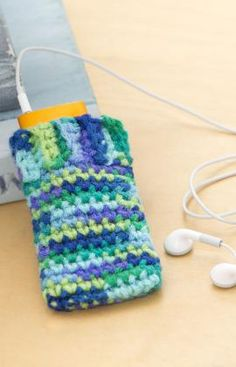 Crocheted phone cozy