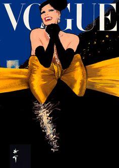 Cover for Vogue,  René Gruau.