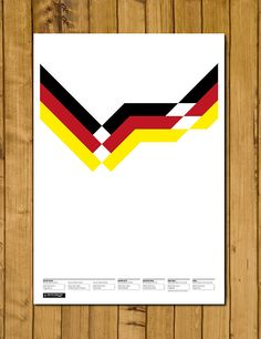 West Germany World Cup Champions 1990 Poster by headfuzzbygrimboid, $15.00