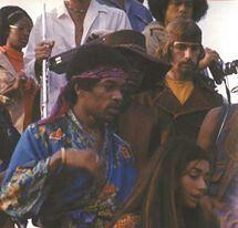 Jimi approaching stage, newport festival | facebook