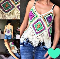 Chic and Elegant Crochet Top Pattern Ideas and Images Part crochet top pattern; crochet top plus size; Crochet Hippie, T-shirt Au Crochet, Mode Crochet, Crochet Shirt, Crochet Woman, Crochet Poncho, Crochet Halter Tops, Bikini Crochet, Crochet Summer Tops