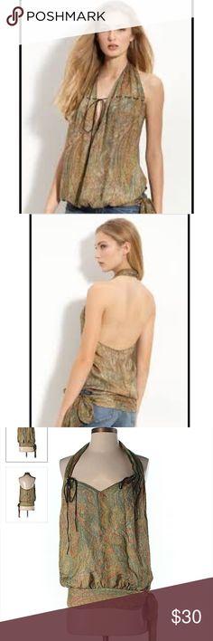 Haute hippie top Haute hippie halter top. 100 silk and in excellent condition Haute Hippie Tops Blouses