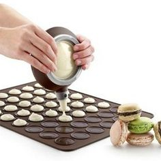 Silicone Baking Mat With 48 Holes For Macaroons - Includes Decorative Nozzel Tool - Big Star Trading Store