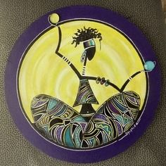 """Tableau """"rasta'purple"""" peinture unique et originale"""