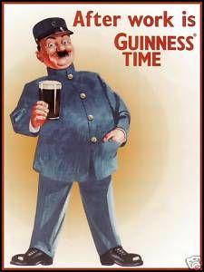 Guinness / After Work Vintage Poster ART on Canvas | eBay