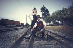 Steampunk Engagement Photo Shoot - Vintage Victorian Fun