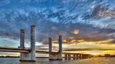 Ponte do Rio Guaiba Porto Alegre/RS Brasil